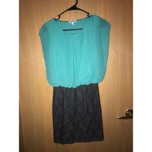 Turquoise/Gray dress 👗
